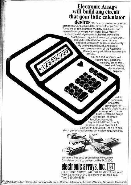 old calculator advertisements