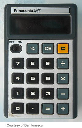 calculator list p s rh vintagecalculators com Panasonic Digital Calculator Blue Panasonic Electric Calculator