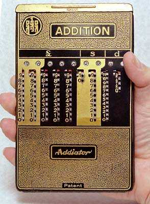 Addiator in hand