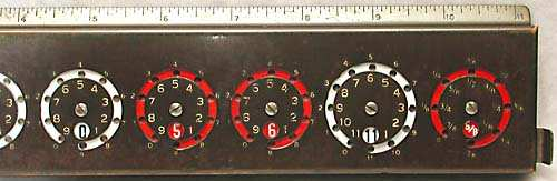 Feet & inches Addometer.