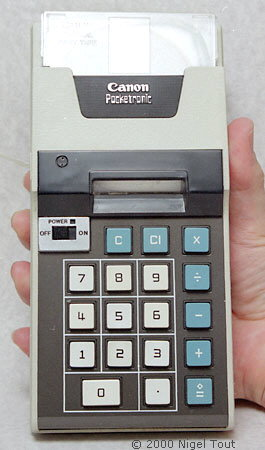 The Sharp Compet Qt 8b Using Rockwell Developed Chips Was World S First Battery Ed Electronic Calculator Launched In 1970