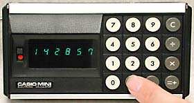 Casio Mini in use