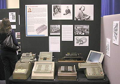 Mechanical calculator display.