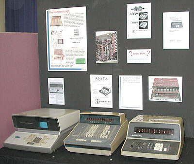 Early electronic desktop calculators