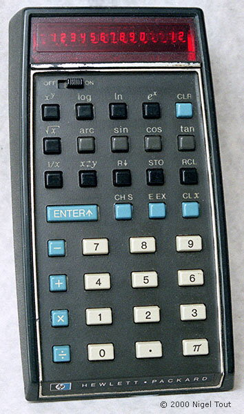 the hp 35 calculator