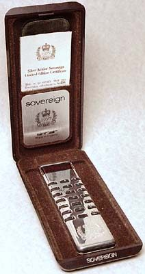 Silver Jubilee Sovereign in case
