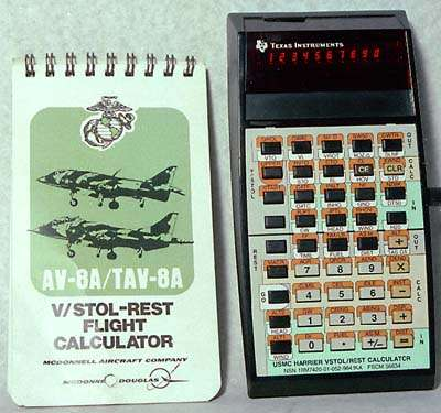 USMC Harrier VSTOL/REST Calculator