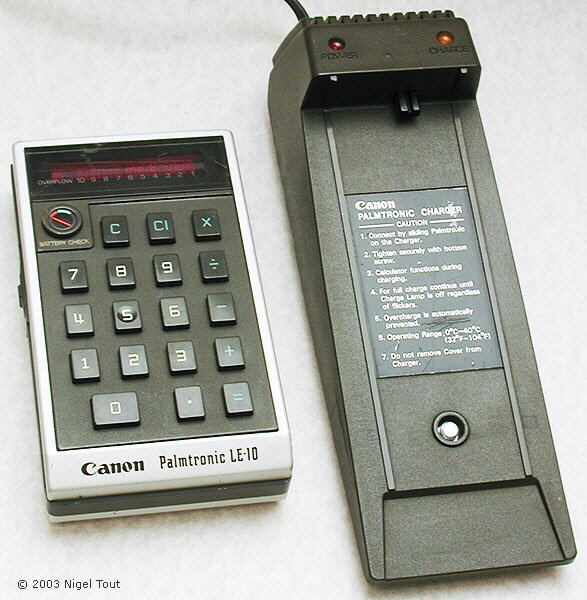 Canon Palmtronic LE-10 and charger