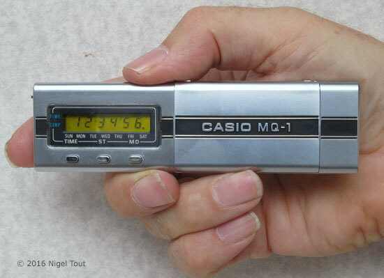 Casio M-Q1 in hand