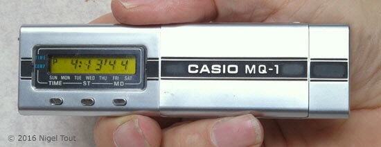 Casio MQ-1 in clock mode