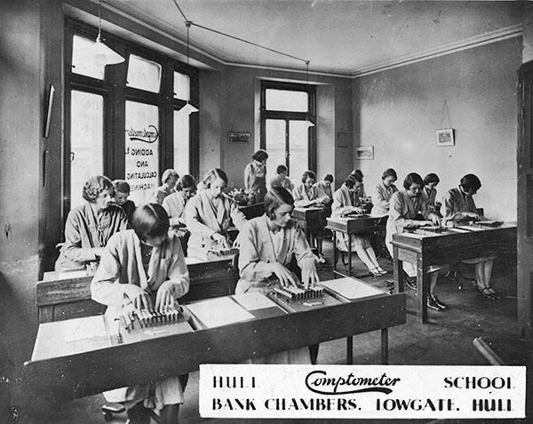 Comptometer School Hull