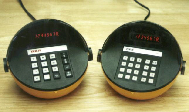 Two models of RCA calculator