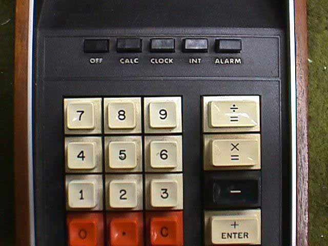 RCA calculator keypad